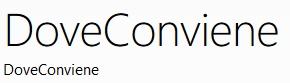FREE DOWNLOAD DI DOVECONVIENE - APP PER SMARTPHONE WINDOWS PHONE