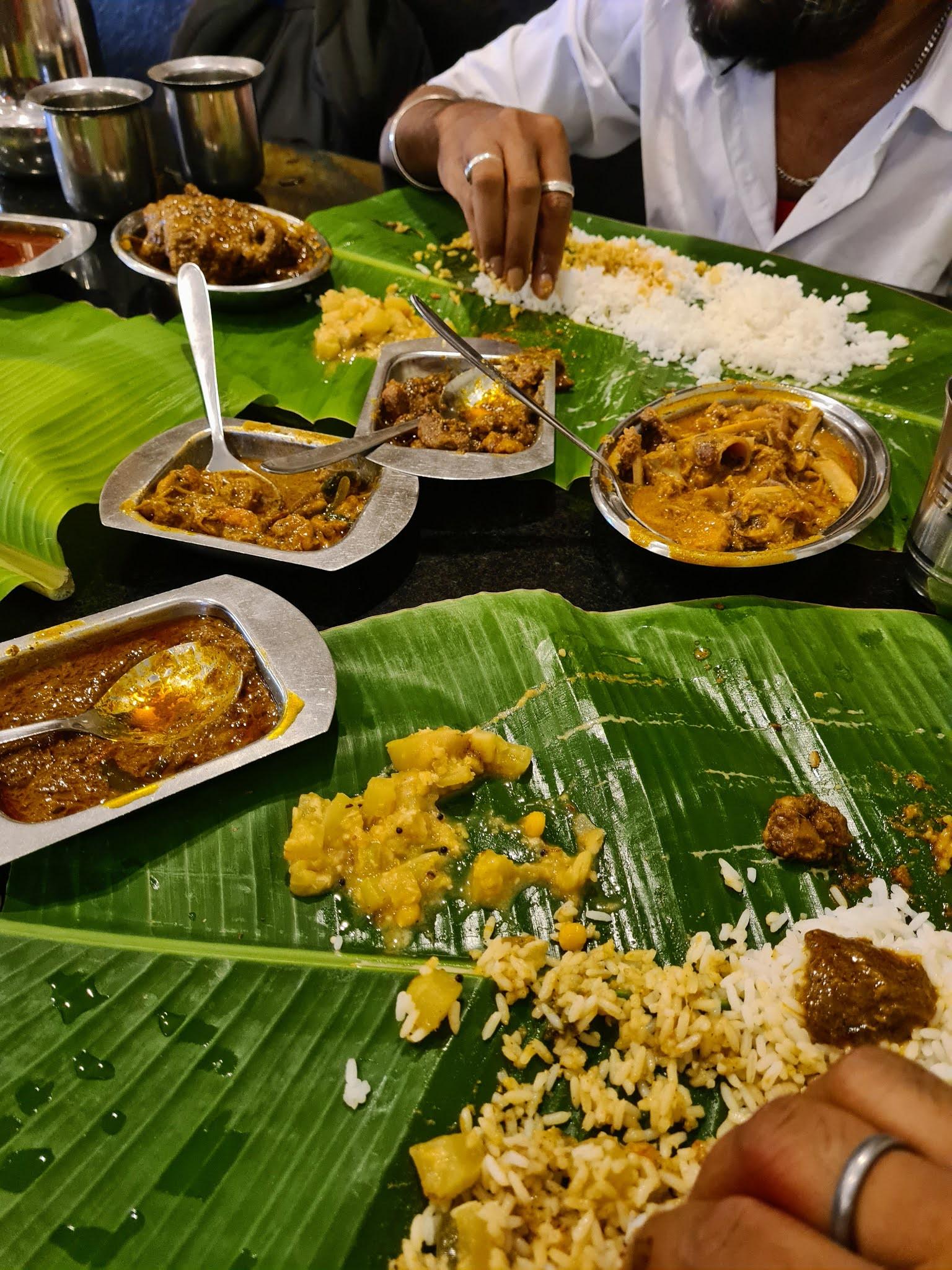 A delicious Chettinad meal at Kumar Mess