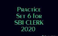 Practice set of English for SBI CLERK PRE