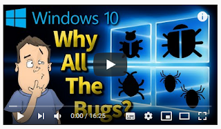 "Link and preview to video ""Why does Microsoft Windows 10 have so many bugs? Ex-Employee tells you why!"" by Barnacules Nerdgasm"