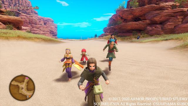 Región de Galópolis Verónica Erik Serena Luminario Análisis de Dragon Quest XI S Ecos de un pasado perdido