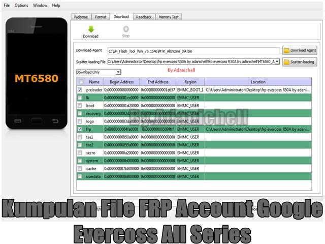 Kumpulan File FRP Account Google Evercoss All Series