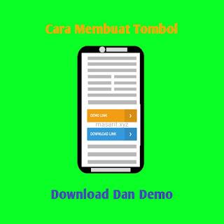 Cara membuat tombol download dan demo Flat UI keren  dengan mudah