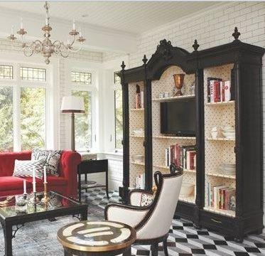 Antico armadio libreria porta tv atelier myartistic for Armadio da soggiorno