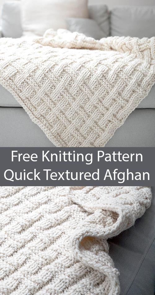 Textured Afghan - Free Pattern