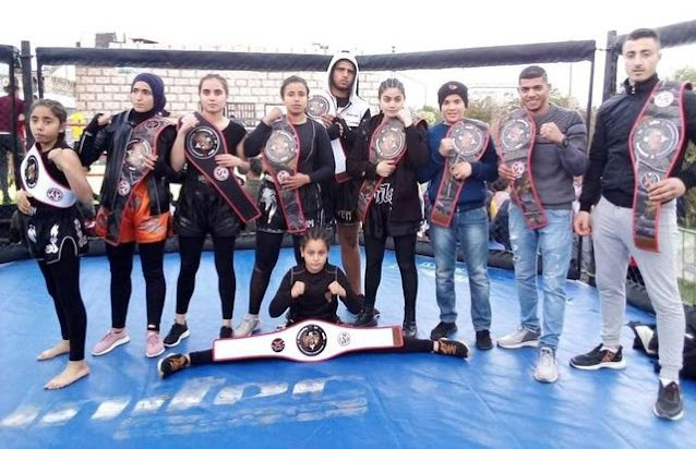14 حزاما و3 ذهبيات حصيلة  نادي نسور قصور الساف في بطولة الكيك بوكسينغ