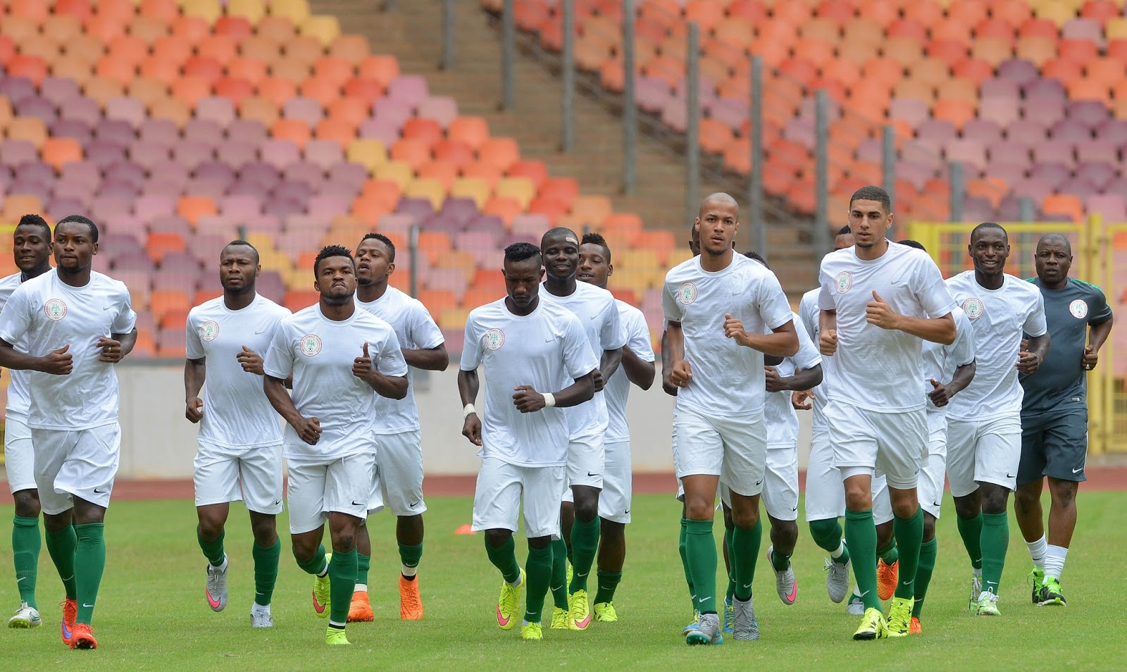 Image result for Etebo, Echiejile, Alampasu miss first training ahead Algeria clash