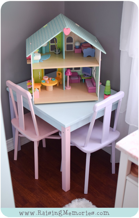 Pastel Wooden Table and Chairs for Toddlers