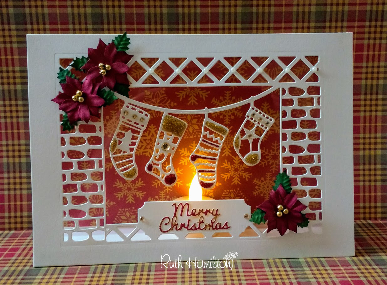 a passion for cards christmas stocking and acetate tent fold card