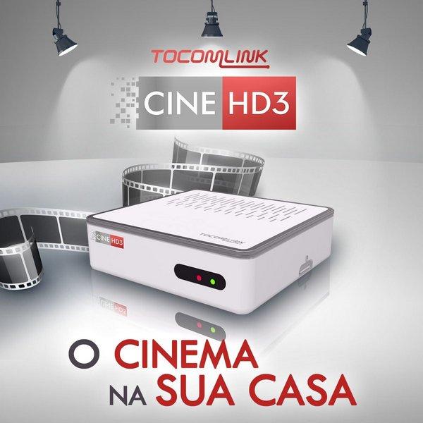 TOCOMLINK CINE 3 HD NOVA ATUALIZAÇÃO V 1.005 - 12/11/2019