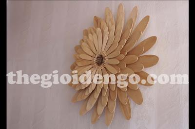 Thế Giới Đèn Gỗ - Đèn gỗ trang trí hoa cúc 6