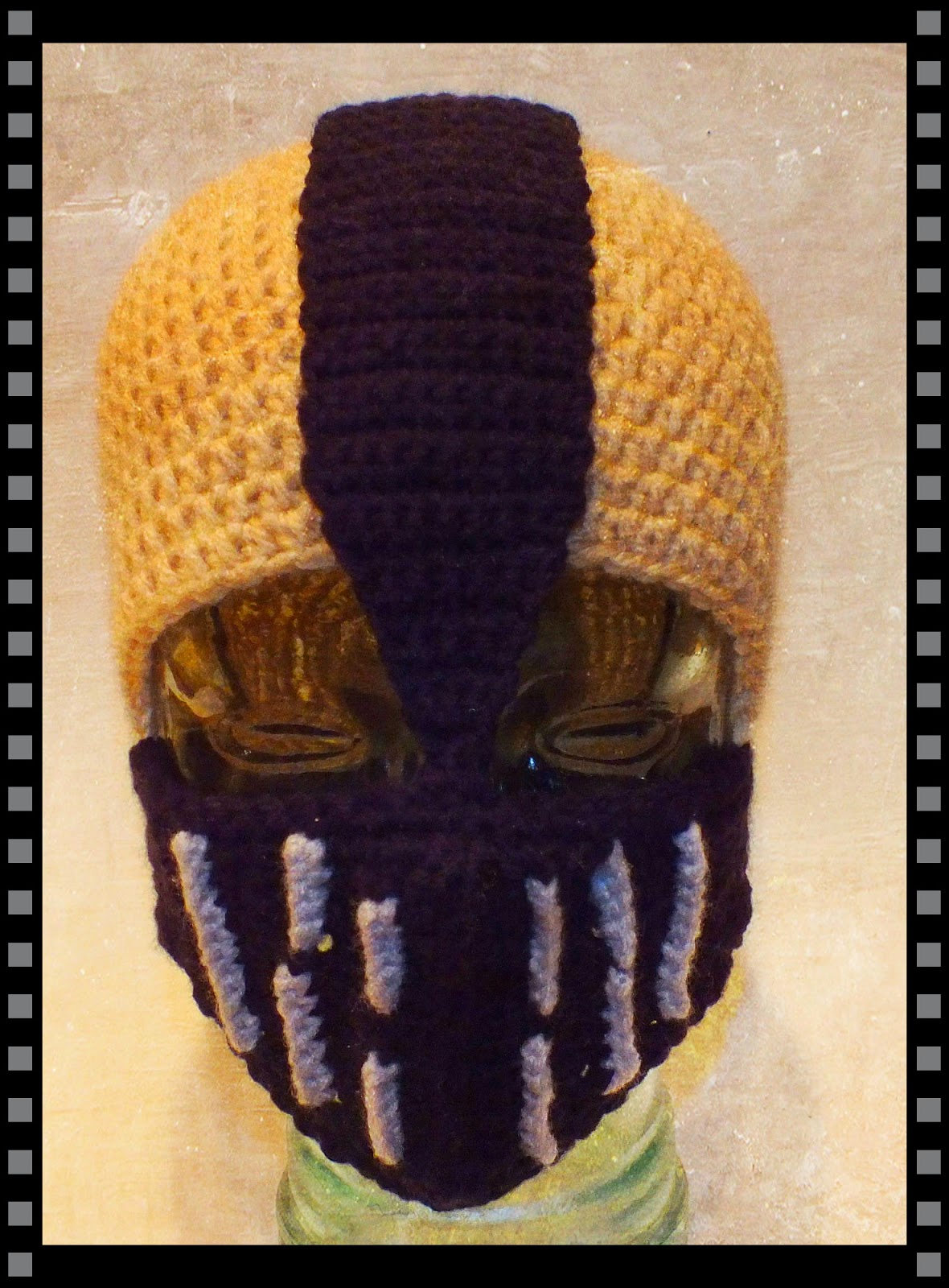 Bane Inspired Crochet Hat Pattern© By Connie Hughes Designs©