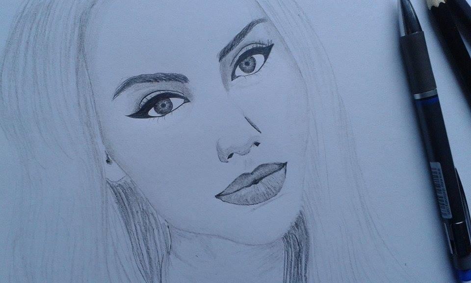Vereeben Art Female Face Drawing Szkic Kobiecej Twarzy