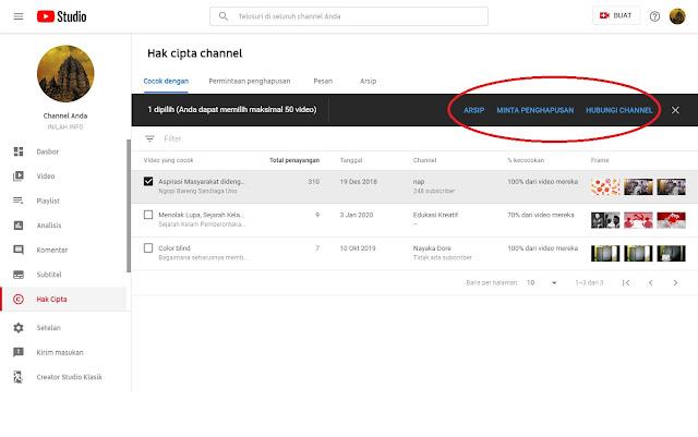 Cara Mengajukan Klaim Hak Cipta konten video Reupload