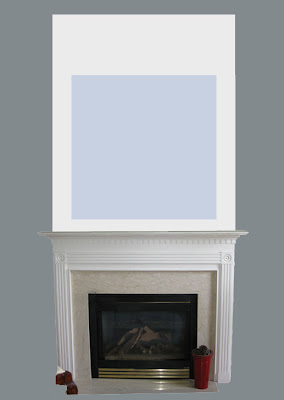 MDF, moldings and paint create a new heightened fireplace