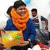 प्रखंड विकास पदाधिकारी प्रेम राज को दि गई विदाई।