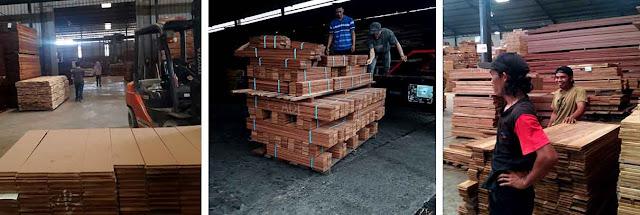 penjual lantai kayu solid