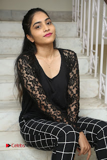 Actress Punarnavi Bhupalam Stills in Black Dress at Pittagoda Press Meet  0081.JPG