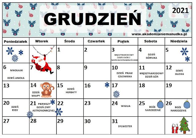 Kalendarz świąt nietypowych dla dzieci na rok szkolny 2021/2022