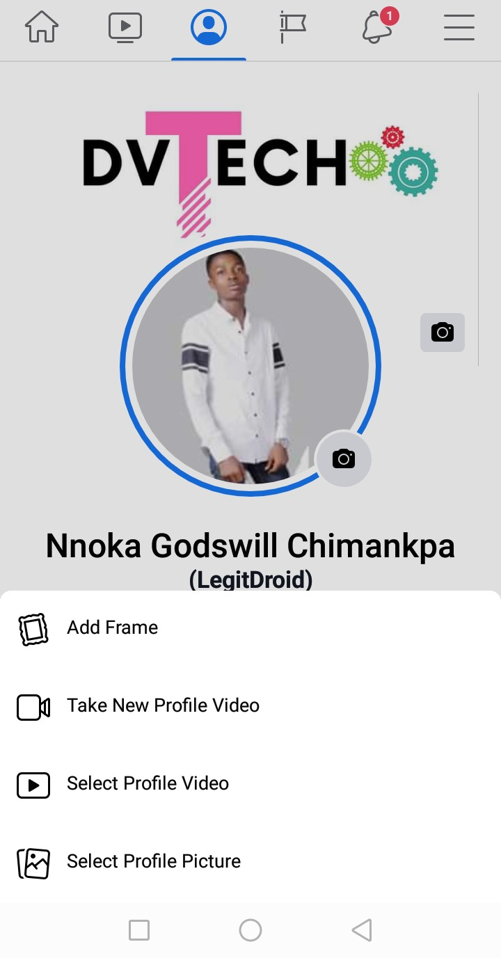 Change Old Facebook profile picture