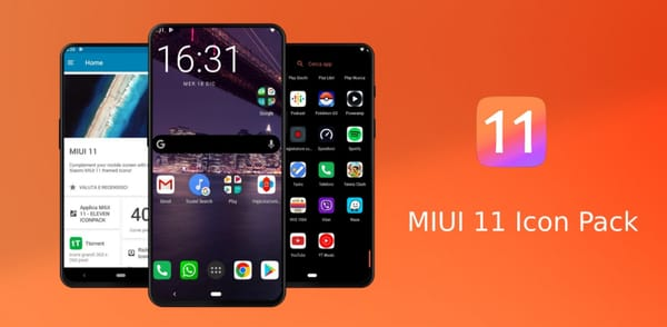 New app: MIUI 11 Icon Pack with 4000 inspirations UUI UI