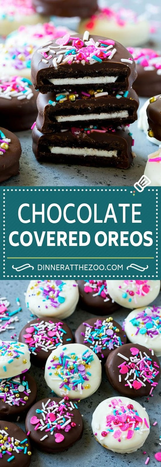 Chocolate Valentine's Covered Oreos