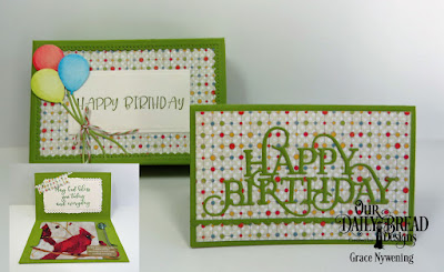 Our Daily Bread Designs Stamp Set: Today and Everyday, Custom Dies:The Gift Giving Box, Bitty Borders, Happy Birthday, Rectangles, Gift Card Holder, Happy Birthday Caps, Paper Collection: Birthday Bash
