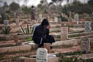 berdoa di kuburan