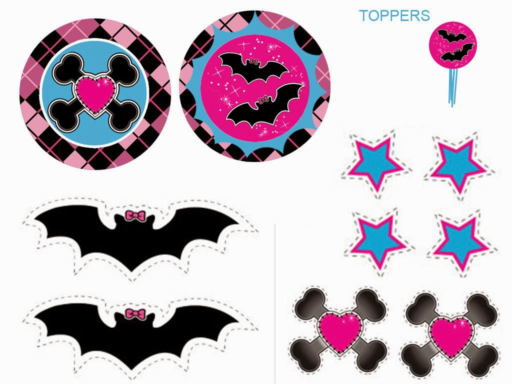 Monster High: Free Printable Labels and Toppers. | Oh My Fiesta! in ...