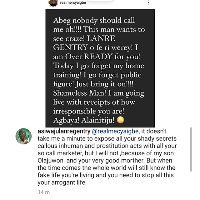 It won't take me a minute to expose your secrets– Mercy Aigbe's husband