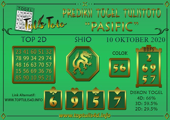 Prediksi Togel PASIFIC TULISTOTO 10 OKTOBER 2020