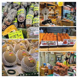 What to do in Kanazawa in Spring: Shop and eat at Omicho market