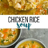 CHICKEN RICE SOUP – STOVE TOP OR SLOW COOKER