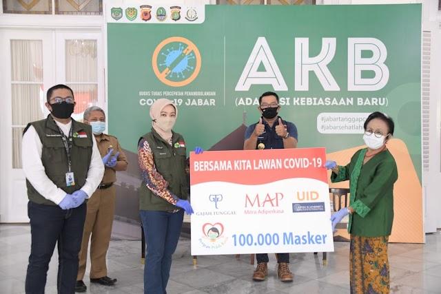 "Dukung ""Gebrak Masker"", Gajah Tunggal Group Bantu 100 Ribu Masker Kepada Pemprov Jabar"
