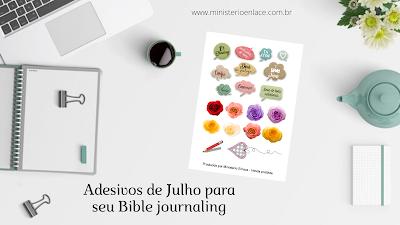 adesivos para Bible journaling
