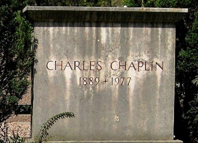 charlie chaplin's grave