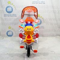 family lebah sepeda roda tiga boncengan