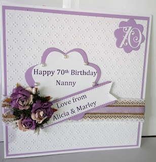 Cards Made By Beckie Nanny 70th Birthday Card