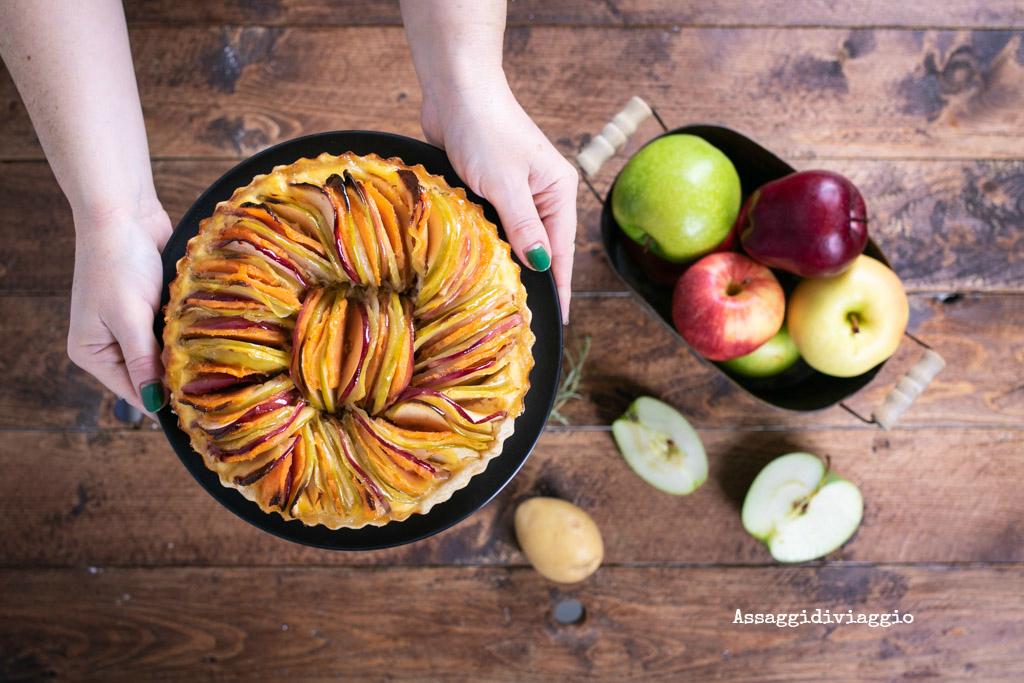 Torta rustica con mele e patate