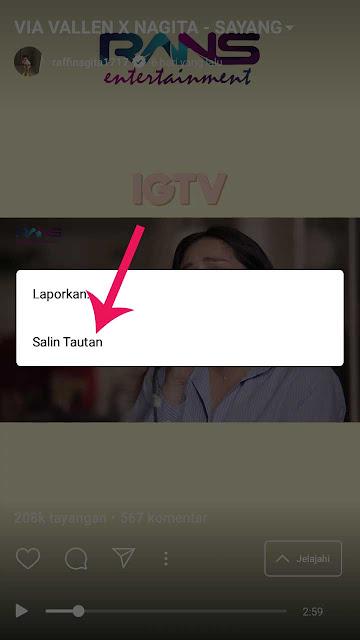 cara download video di IGTV