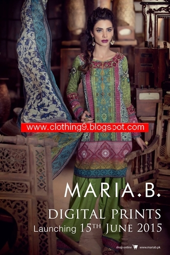 Maria-B EID DIGITAL LAWN PRINTS 2015
