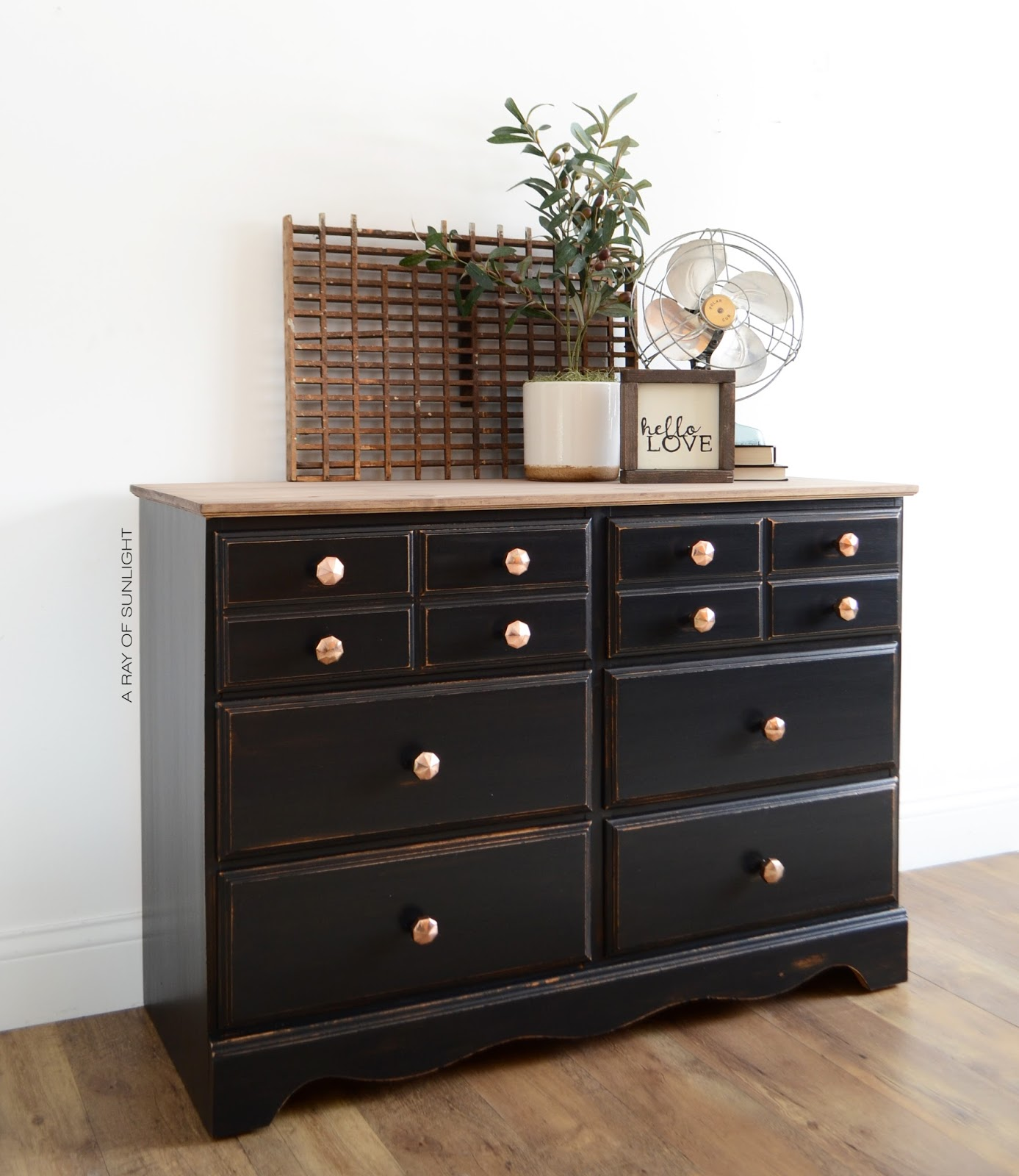 How I Updated A Vintage Dresser By Replacing Its Fake Wood Top With Real For