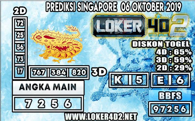 PREDIKSI TOGEL SINGAPORE LOKER4D2 06 OKTOBER 2019