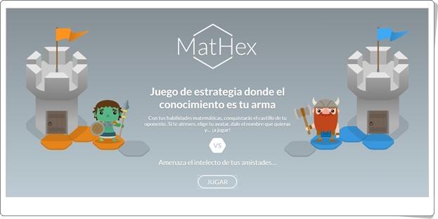 MatHex (Juego de conocimiento matemático y estrategia de Secundaria)