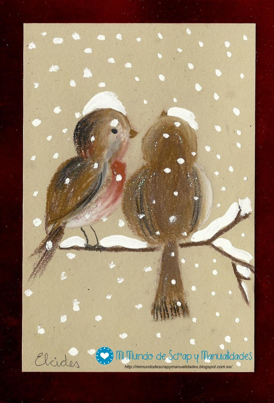 Mi mundo de scrap y manualidades postal de navidad 8 - Hacer una postal de navidad ...