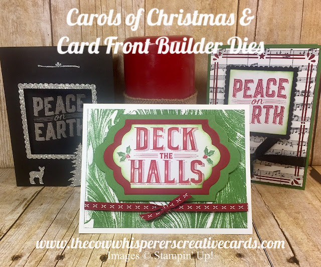 Carols of Christmas, Card Front Builder Dies, Card, Border, Christmas, Stampin Up