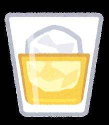 ウイスキーのイラスト(ロック)