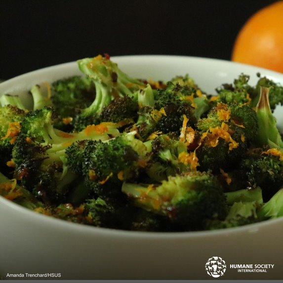 Brócoli Tostado a la Naranja