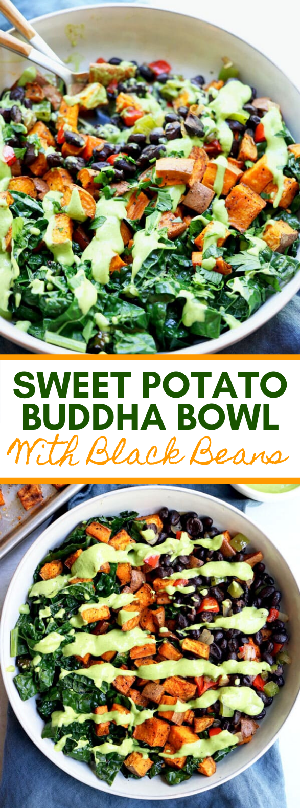 Sweet Potato Buddha Bowl With Black Beans #vegetarian #healthy