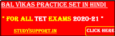 bal vikas practice set in hindi for all tet exams 2020-21